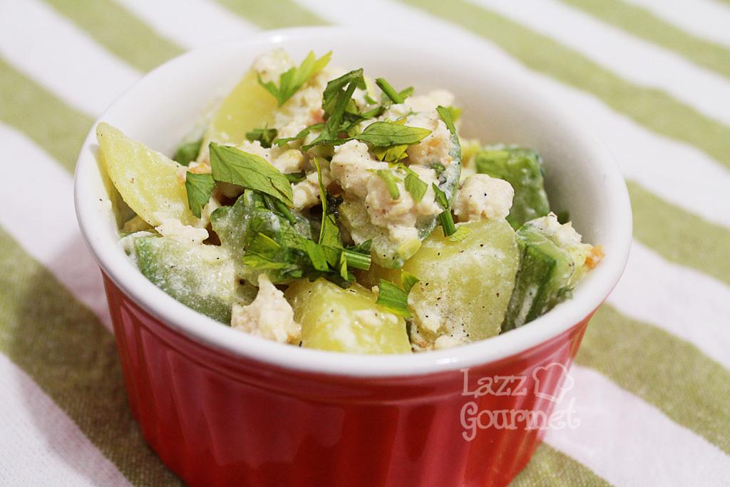 Salada de Frango Cremoso com Legumes