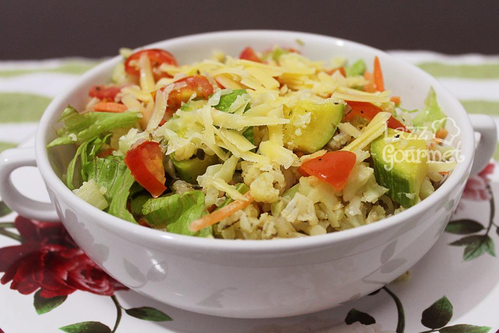 Salada de Couve-flor com Legumes