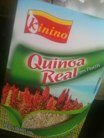 de bolo de farinha integral e farinha de quinoa