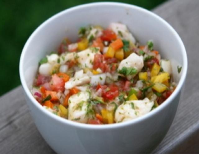 Recetas Saludables: Ceviche de Reineta cocida con tomate y palta