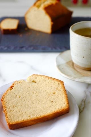 CONDENSED MILK POUND CAKE WITH ORGANIC GROUND VANILLA