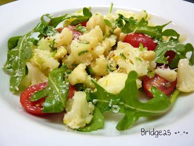Salade chou-fleur parmesan