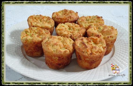 Muffins de arroz com legumes