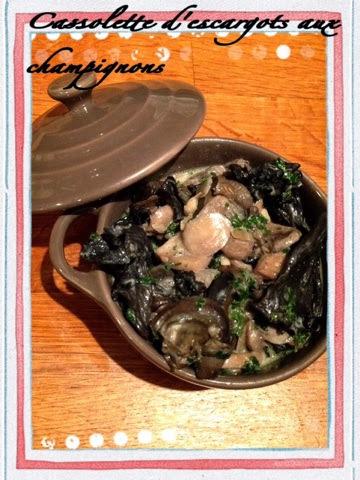 Escargots et champignons