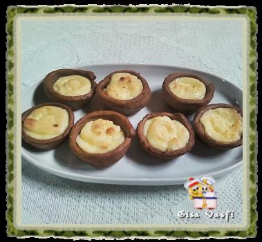 Pastél de nata de chocolate
