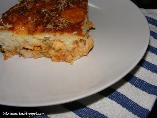 Torta de Arroz com Recheio de Frango