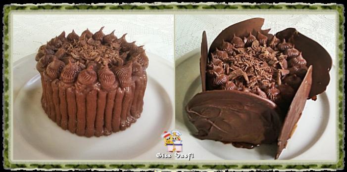 Bolo de chocolate para dois