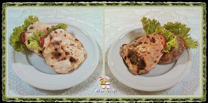pão sírio integral de frigideira