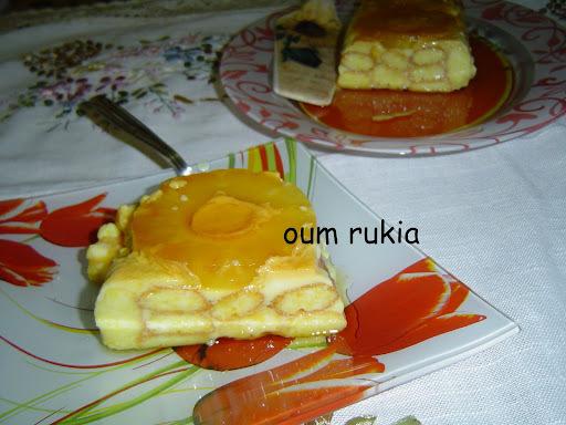 Cake sans cuisson à l'ananas de silvi