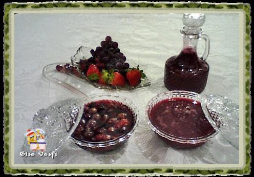 Geleia e calda de frutas vermelhas