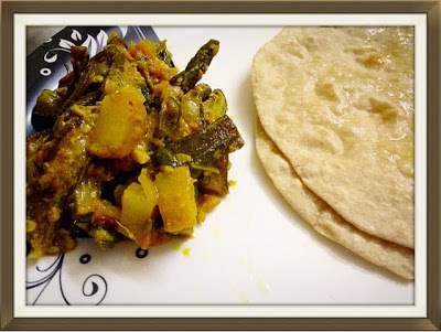 Bhindi Aloo Curry(Ladies Finger Potato Curry)