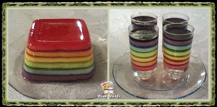 Gelatina arco -iris