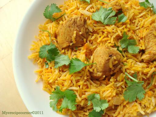 Madras Chicken Biryani/ Tamil Style Kozhi Biryani.