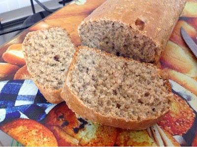 de pão integral com chia e aveia