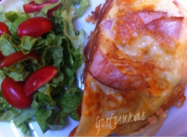 omelete com queijo polenguinho