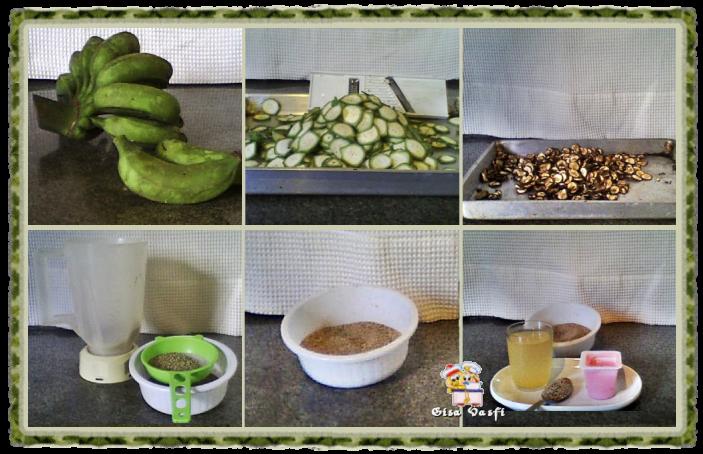 Farinha de banana verde e biomassa