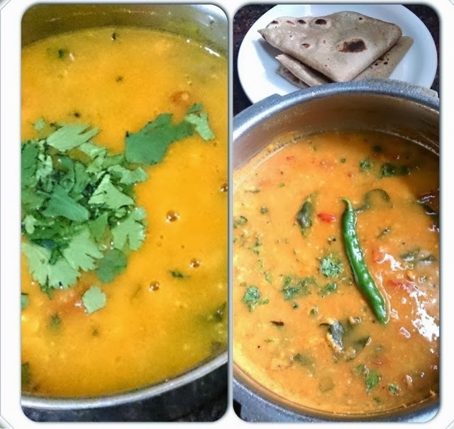 Trevati dal ( Gujarati ) A healthy protein rich dal combining toovar,Chana and moong dal