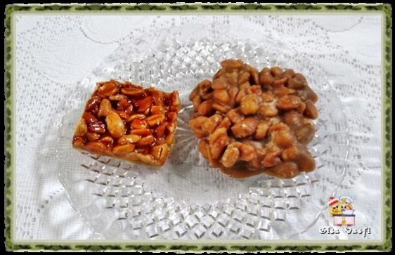 pe de moleque leite condensado com agua amendoim torrado