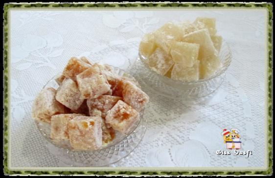Raha, goma árabe  ou doce de misk
