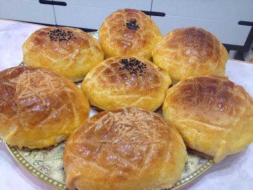 湯種菠蘿包+芝心菠蘿包+紅豆菠蘿包(麵包機搓粉)