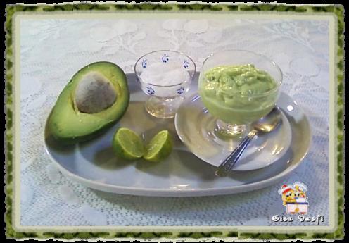 Creme e sorvete de abacate