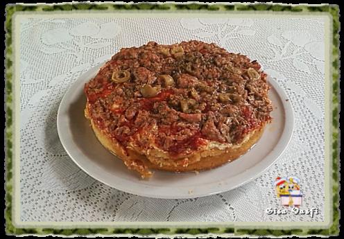 de massa de pizza de sardinha com fermento quimico