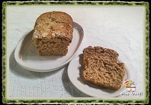 de pão integral com farelo de trigo e linhaça