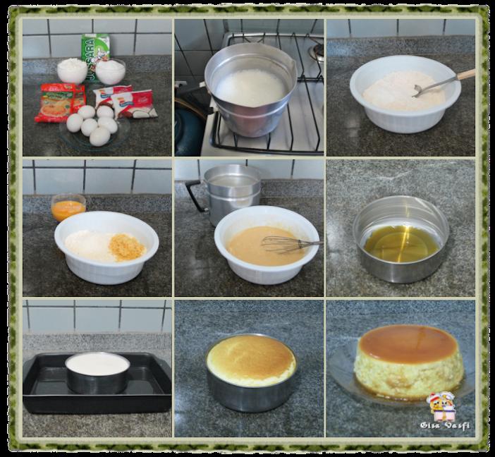 Pudim de padaria com queijo