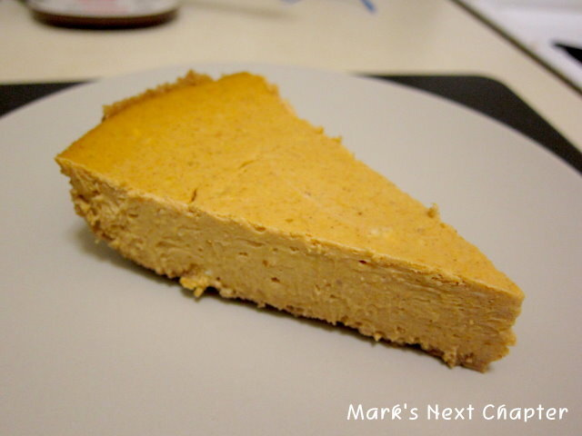 [食譜] 冬日甜點: 南瓜起司蛋糕 pumpkin cheesecake