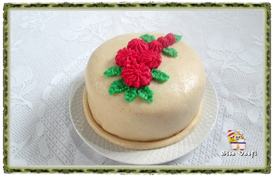cobertura de bolo feita de gordura vegetal hidrogenada