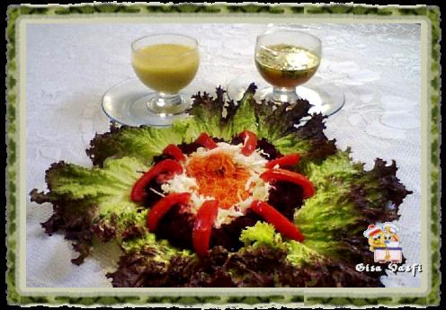 Salada crua com maionese de tangerina carioquinha