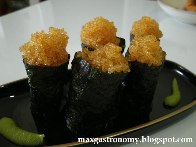 receita no 58 tobiko sushi sushi de ova de peixe voador 飛子寿司