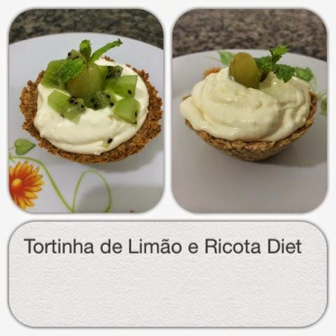 Tortinha de creme de ricota e limão diet