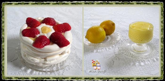 Sobremesa de morangos com creme de limão siciliano