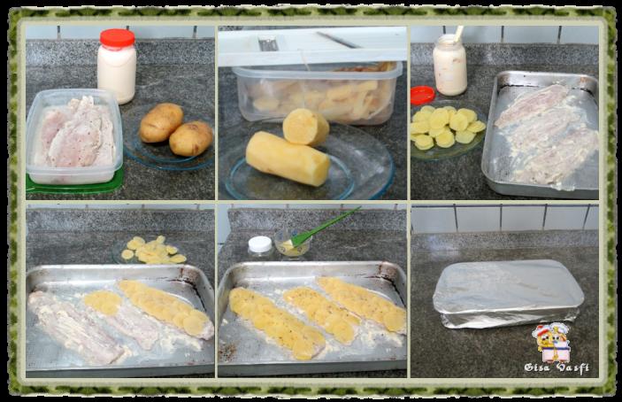 Peixe com escamas de batata