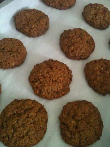 Cookies de Granola e Gengibre