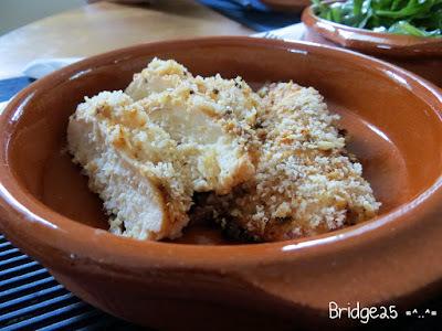 Poulet croustillant au fromage parmesan