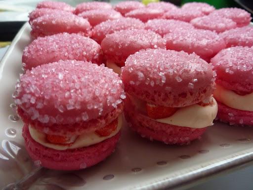 Mes macarons à la fraise Tagada