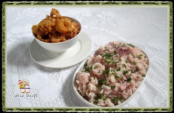 Lula empanada e arroz de lula