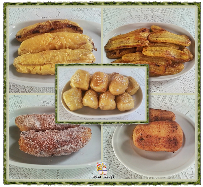 banana real de forno