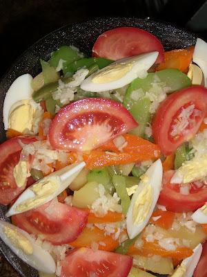 de salada com batata e cenoura e chuchu
