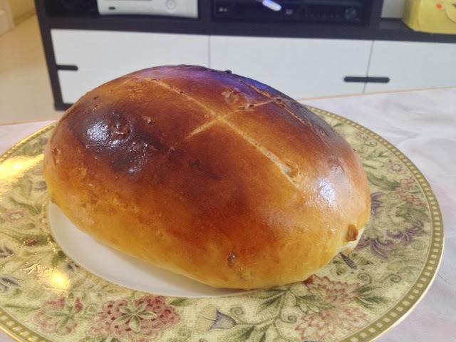 鮮奶合桃大包(麵包機搓粉,焗爐烘焙;附有湯種版及普通做法)