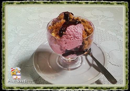 sorvete caseiro de chocolate com gelatina
