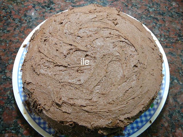 Cobertura o relleno de chocolate para tortas o pasteles