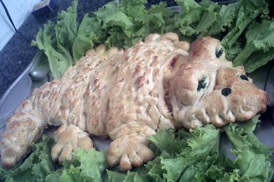 Pão Baby Crocodilo - é o bicho!!!