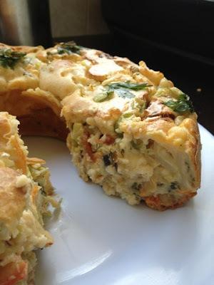 Torta de legumes e verduras