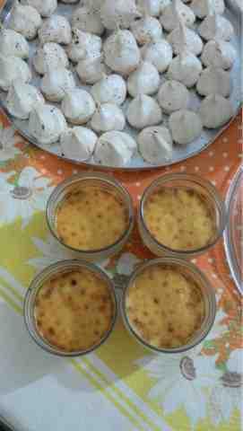 Crème brûlée de limão siciliano e suspiro
