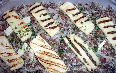 baião de dois com feijão fradinho e carne seca