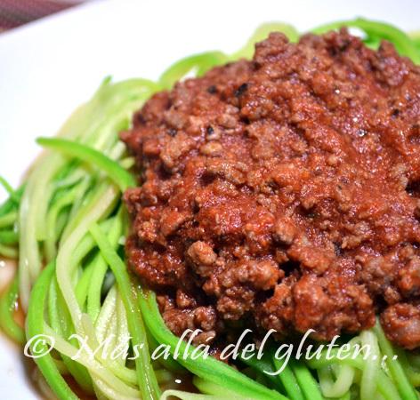 """""""Espaguetis"""" de Zucchini (Receta SCD y GFCFSF)"""