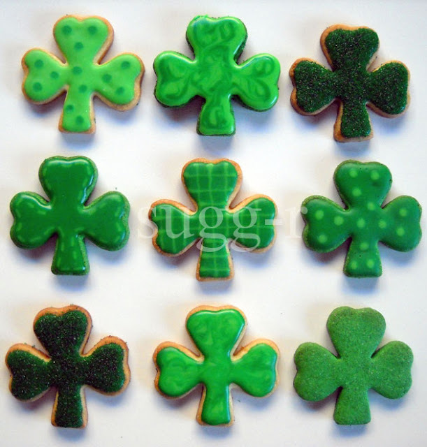verde que te quiero verde, o galletas de limón decoradas del día de St. Patrick